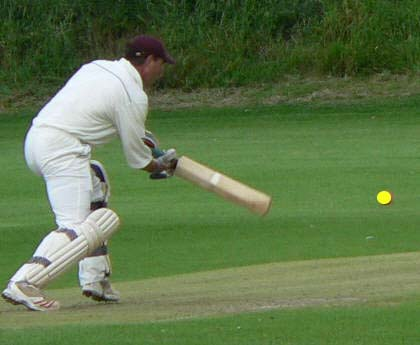 batting - normal vision with yellow ball